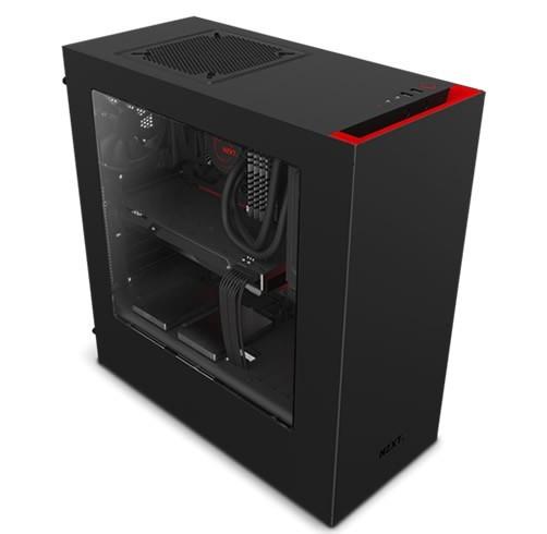 NZXT S340 Negro/Rojo