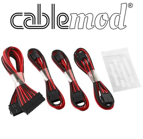 Cablemod ModFlex - Dual 6+2 - Negro/Rojo