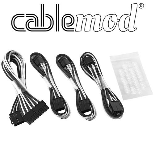 Cablemod ModFlex - Dual 6+2 - Negro/Blanco